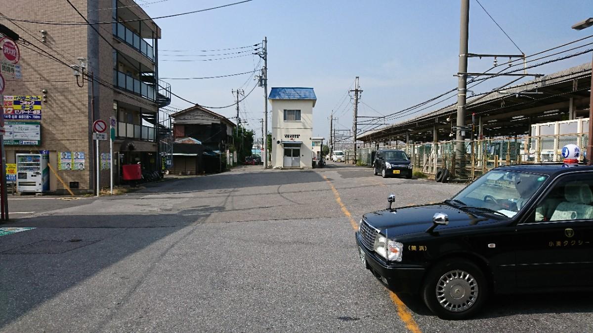 幕張駅南口正面交番のタクシープール