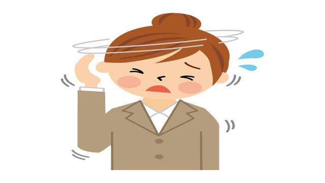 女性が頭痛を起こしているイラスト