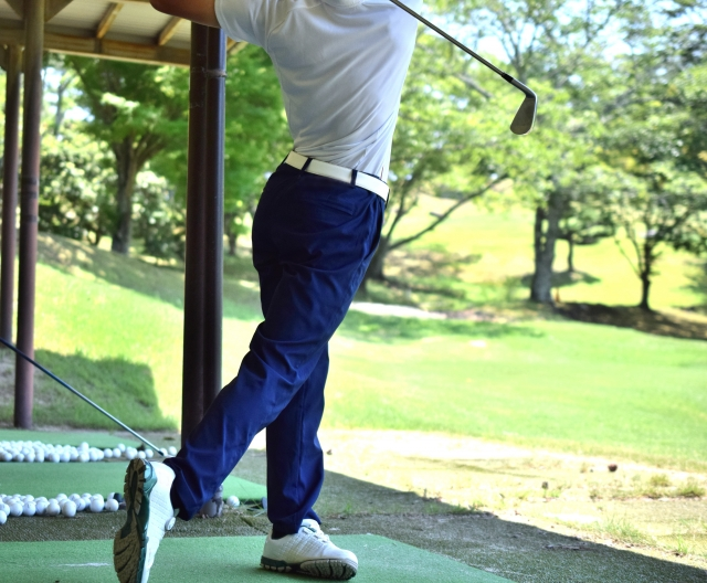 ゴルフ練習画像